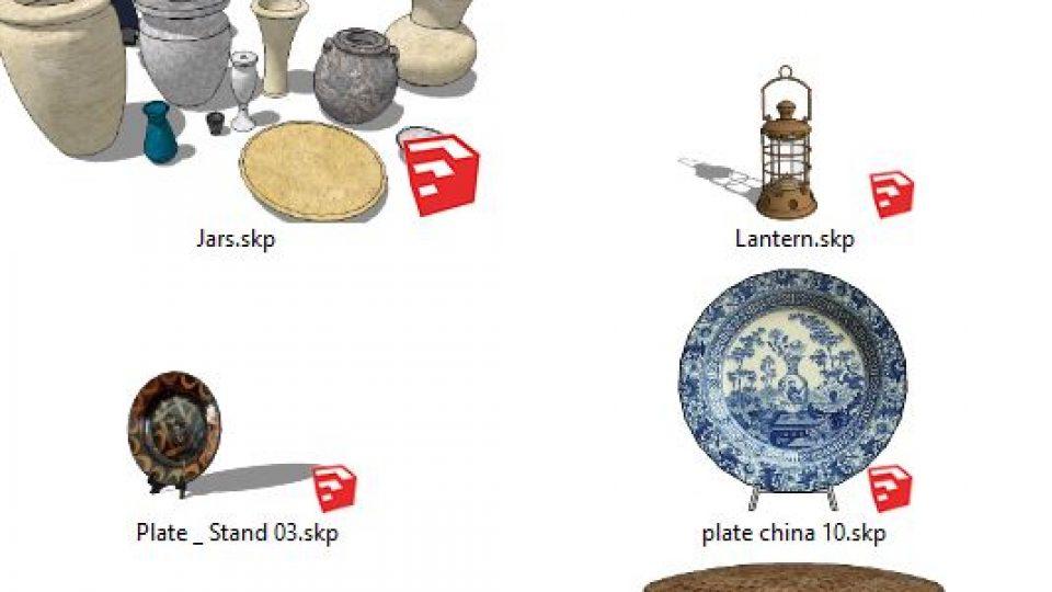 دانلود آبجکت تزیینات دکوری برای اسکچاپ