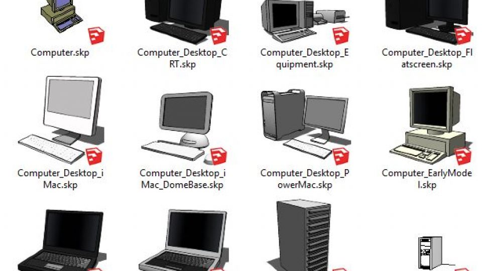 دانلود آبجکت لپتاپ و کامپیوتر برای اسکچاپ