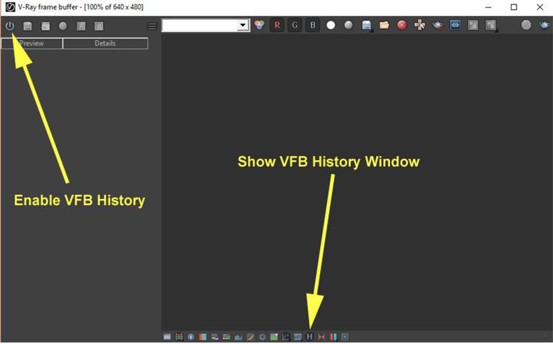 مشکل قفل کردن Frame Buffer در vray 3.4
