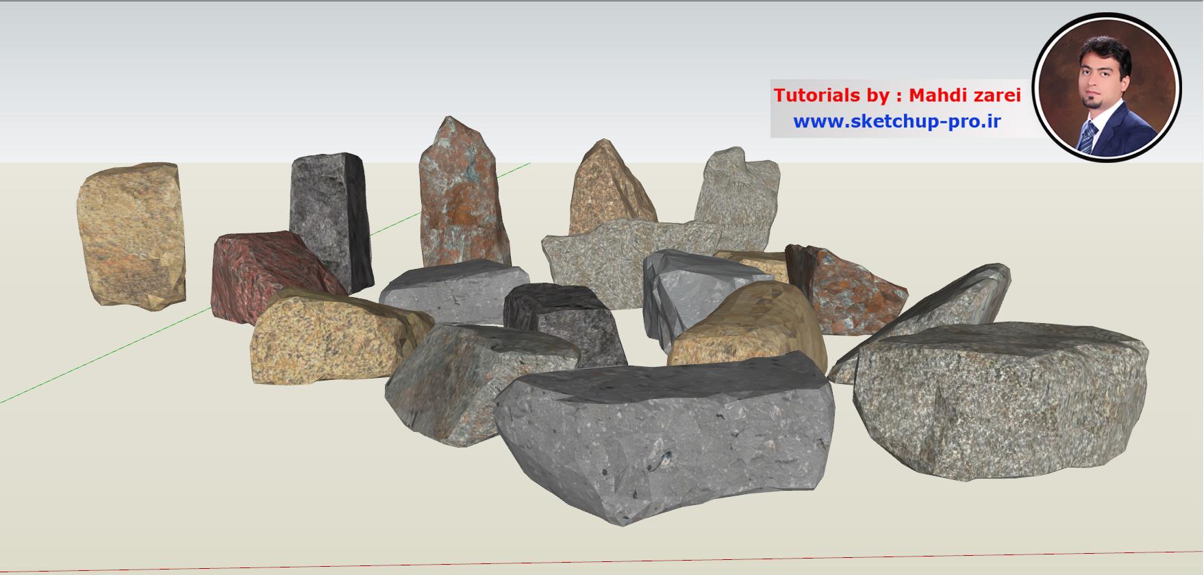 آموزش مدلسازی صخره در اسکچاپ